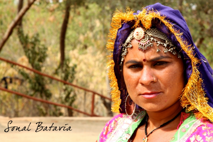 local rajasthani dancer before her performance