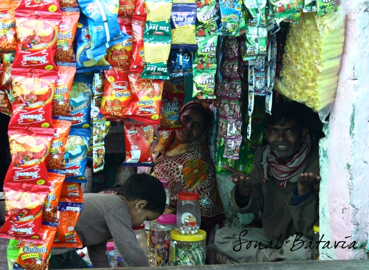 The local store in the slums, for all your snacking needs.