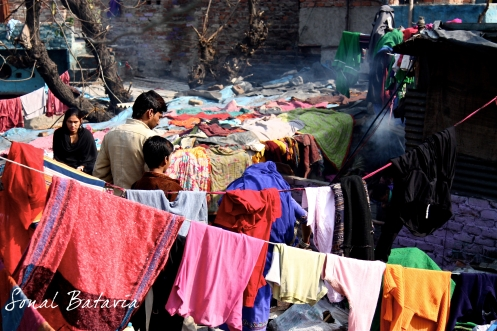 ....drying out in the hot Delhi sun