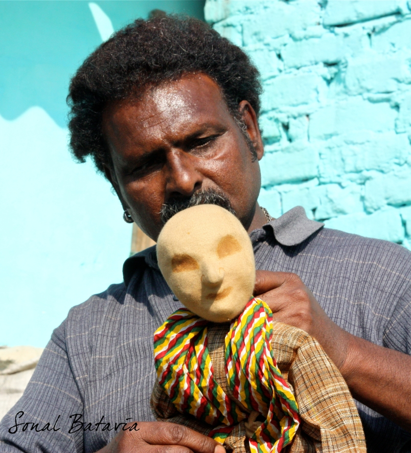 The local puppeteer. Shows on the rooftop for only 5 rupees.