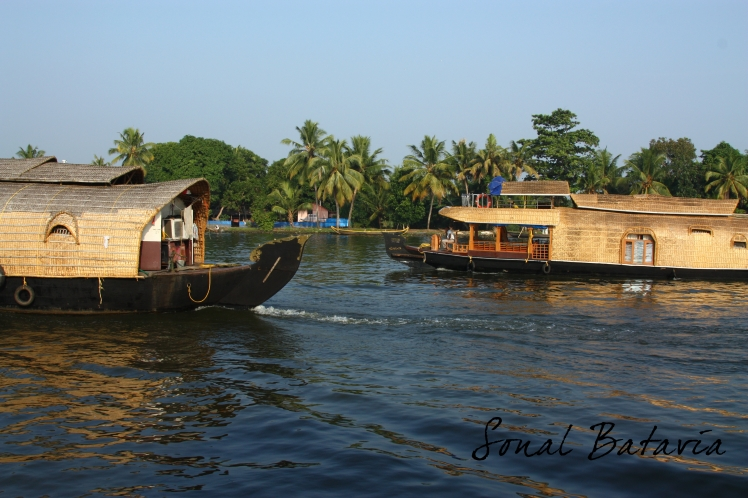 Boat traffic.