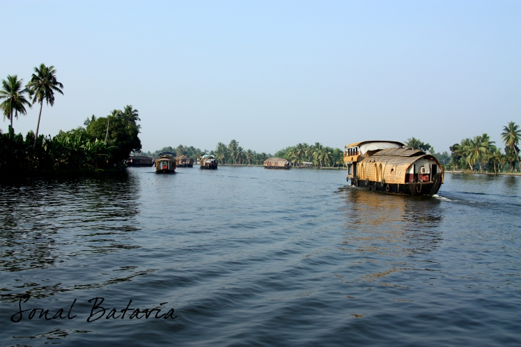 Setting out early morning on to the backwaters in Allepy.