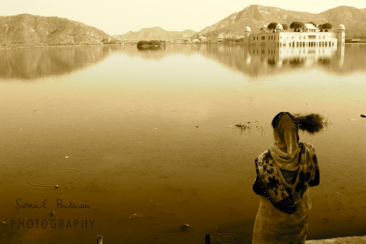 Gazing out in Jaipur.