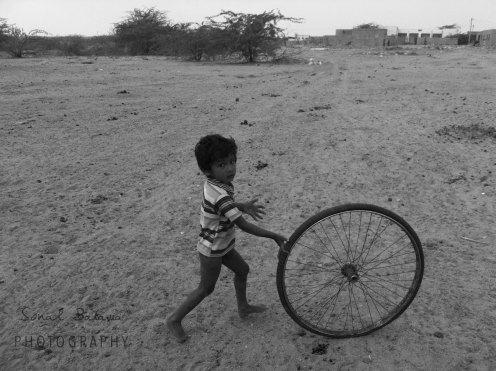 Spinning in the desert.